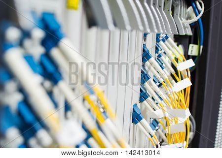 Fiber Optic Cable Network Is Another. Capable Of Receiving - Transmitting Distance In Kilometers And