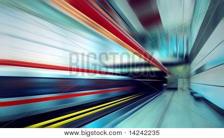 Velocidade na estação de trem