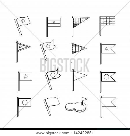 an images of Flag icon illustration design