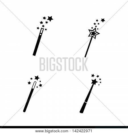 an images of Magic Wand Icon illustration design