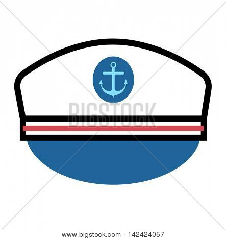 Captain hat with anchor