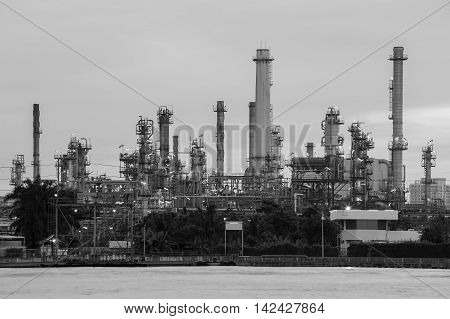 Black and White, Oil Refinery heavy industry waterfront