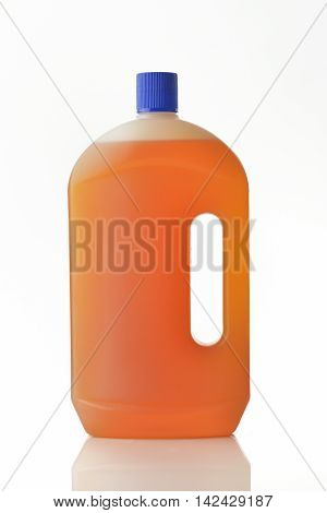Floor Cleaning Liquid Soap on White Background