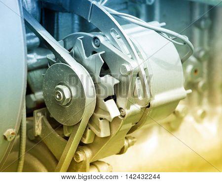 Transmission Belt On Engine