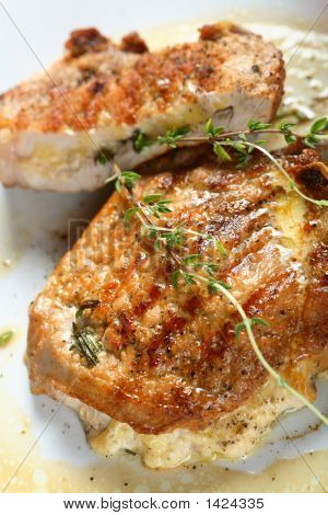 Pork Chops Stuffed With Cheese