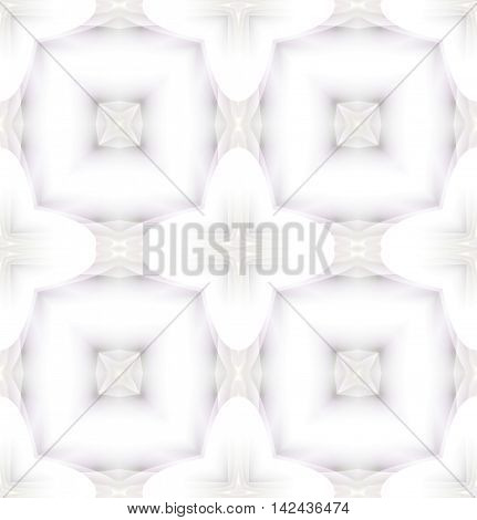 Abstract geometric seamless background in quiet colors. Delicate squares pattern beige and light gray shades on white.