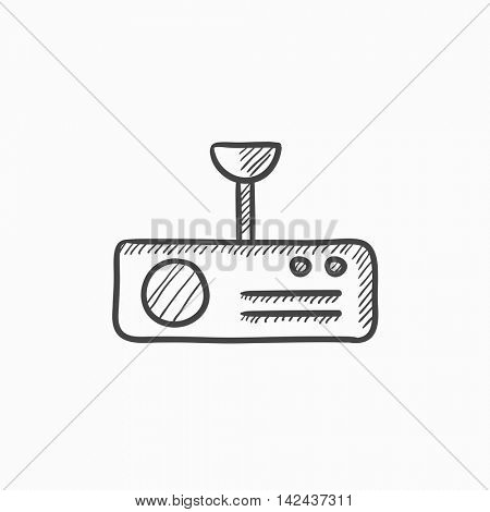 Digital projector vector sketch icon isolated on background. Hand drawn Digital projector icon. Digital projector sketch icon for infographic, website or app.