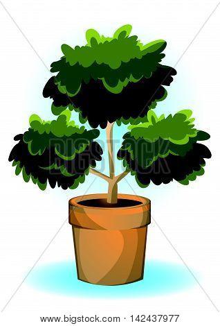 Cartoon Vector Illustration Cartoon Flowerpot Objects