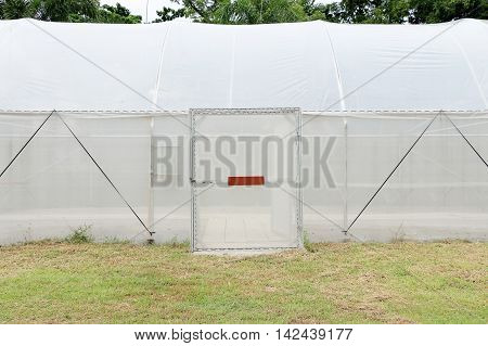 new empty greenhouse prepared for cultivation of new plants.