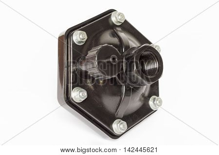 Water pump spare parts on white background