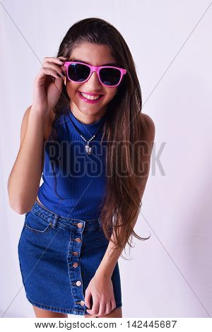 Fashion Portrait Of Young Woman With Urban Style