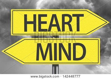 Heart x Mind yellow sign