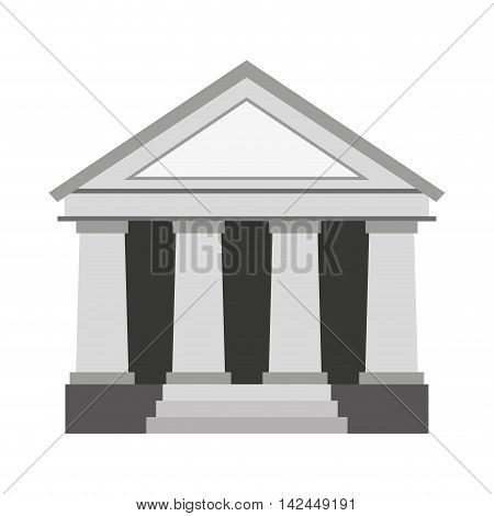 justice building isolated icon vector illustration design