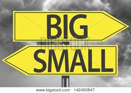 Big x Small yellow sign