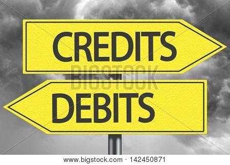 Credits x Debits yellow