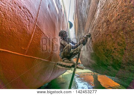 Local Workers Are Working To Repair Ships