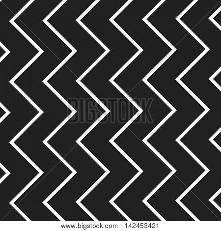 Black and White Zig Zag Lines Pattern - Background Design