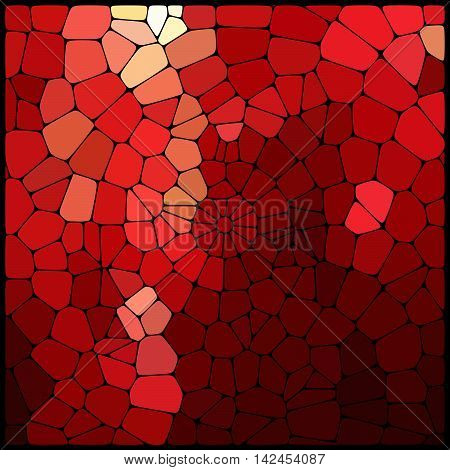 Abstract Mosaic Pattern Consisting Of Geometric Elements Of Different Sizes And Colors. Vector Illus