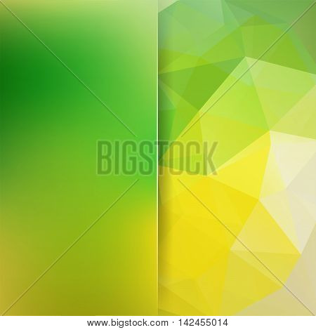 Background Made Of Triangles. Square Composition With Geometric Shapes And Blur Element. Eps 10 Gree
