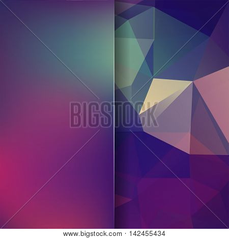 Background Made Of Triangles. Square Composition With Geometric Shapes And Blur Element. Eps 10 Purp