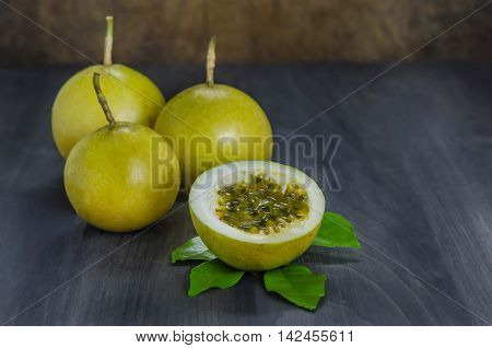 Fresh Passion Fruit And Half