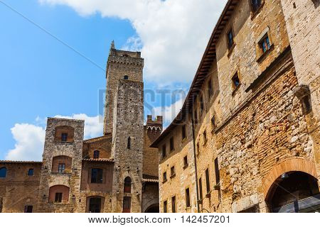 Typical Tower Houses Of San Gimignano, Italy