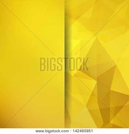 Abstract Geometric Style Yellow Background. Blur Background With Glass. Vector Illustration