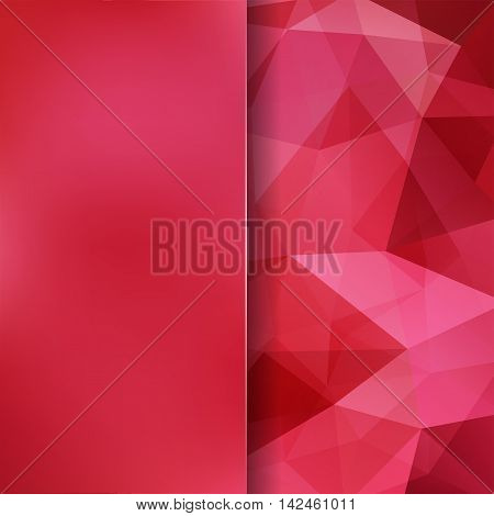 Background Of Geometric Shapes. Blur Background With Glass. Red Mosaic Pattern. Vector Eps 10. Vecto