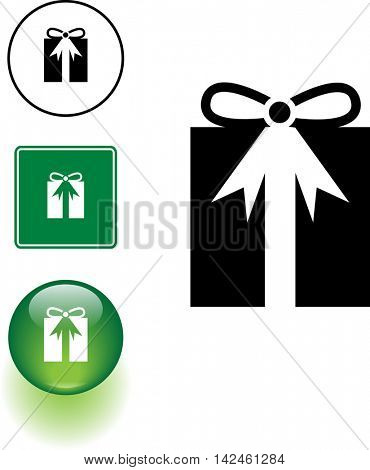 gift symbol sign and button