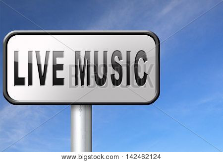 music live stream radio music or listen live on air broadcasting songs program road sign 3D illustration