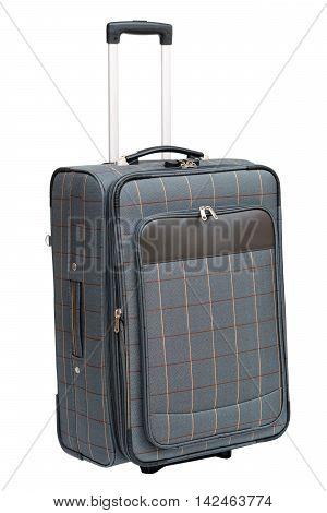 Luggage with handle isolated on white background