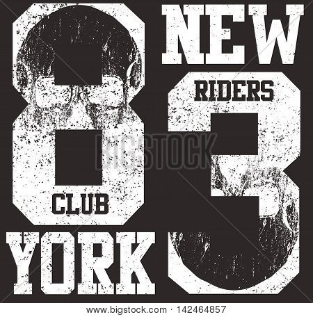 New york typography T shirt graphic . Vectors