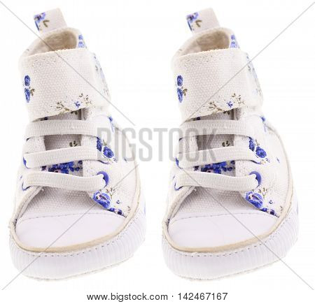 Color summer children's boot is isolated on the white