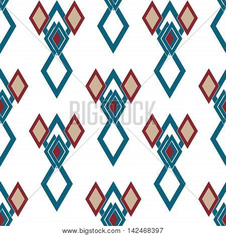 Seamless rhombus retro colors pattern background geometric abstract texture