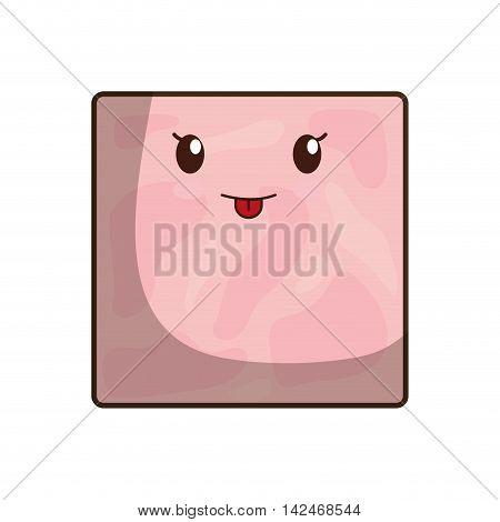 Ham breakfast food menu icon. Isolated and flat vecctor illustration