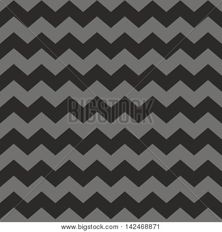 Zig zag chevron black and grey tile vector pattern or wallpaper background