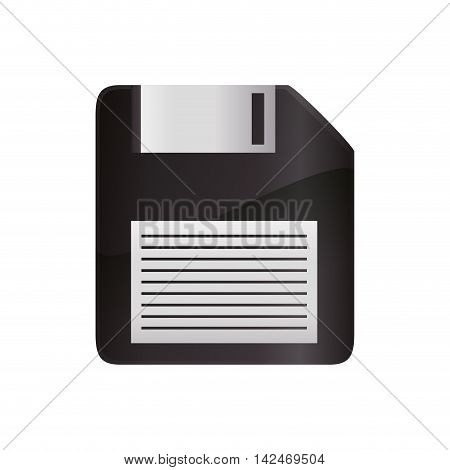 diskette information technology gadget icon. Isolated and flat vecctor illustration