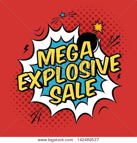 Illustration With Mega Explosive Sale Discount