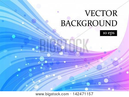 Abstract blue and purple on white curve smooth shapes vector illustration