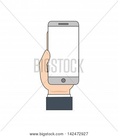 smartphone mobile technology gadget icon. Isolated and flat illustration