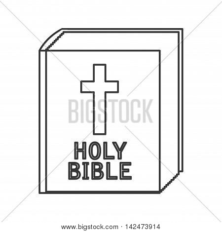flat design holy bible icon vector illustration