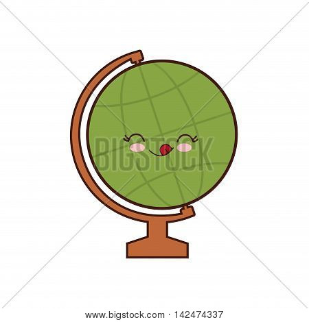 global sphere class school instrument icon. Isolated and flat illustration