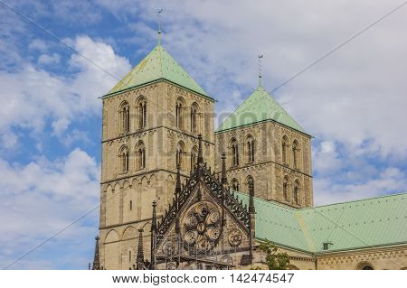 Towers Of The St. Paulus Dom In Munster