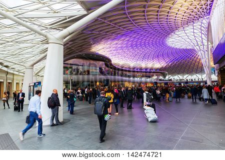 Kings Cross Railway Station In London, Uk