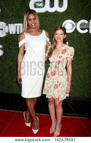 LOS ANGELES - AUG 10:  Laverne Cox, Dreama Walker at the CBS, CW, Showtime Summer 2016 TCA Party at the Pacific Design Center on August 10, 2016 in West Hollywood, CA