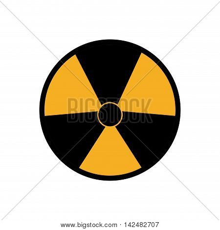 biohazard industrial security safety icon. Isolated and flat illustration