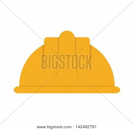 helmet industrial security safety icon. Isolated and flat illustration