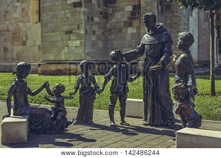 Bronze Statues Group