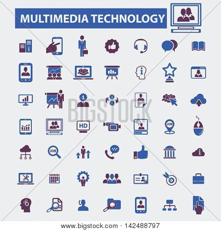 multimedia technology icons