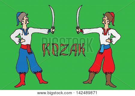 Kozak Warrior. Ethnic Soldier Of Ukraine